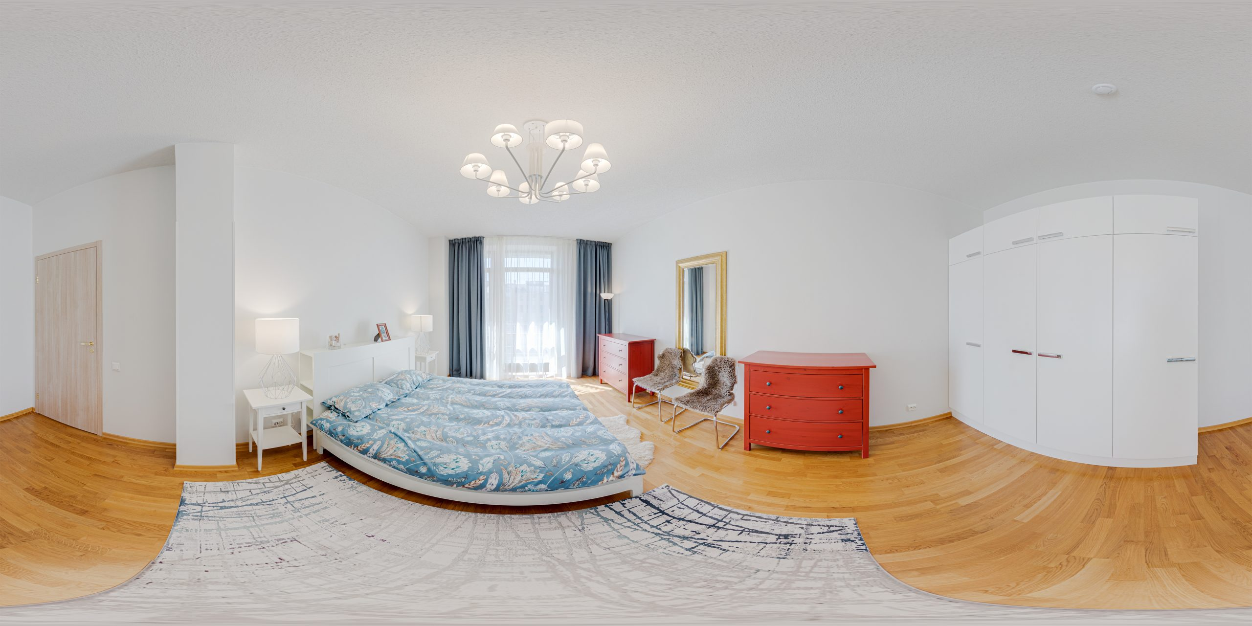 Круговая панорама интерьера квартиры